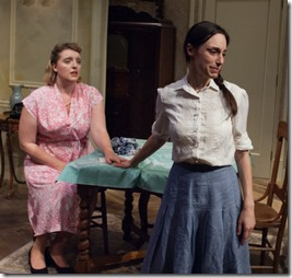 Bri Sudia and Emily Berman star as Rose and Lusia in A Shayna Maidel, TimeLine Theatre