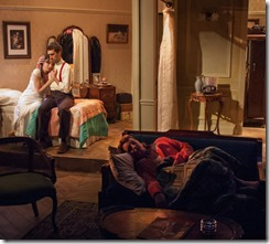 Emily Berman (Lusia), Alex Stein (Duvid) and Bri Sudia (Rose) star in A Shayna Maidel