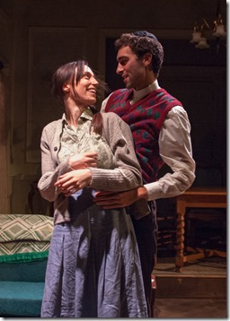Emily Berman and Alex Stein star as Lusia and Duvid in A Shayna Maidel, TimeLine Theatre