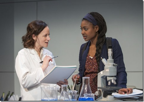 Ashley Neal and Courtney Williams star as Amy and Makayla in Scientific Method, Rivendell Theatre