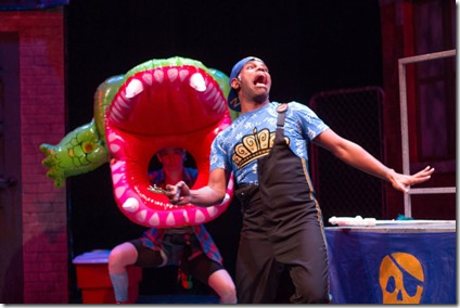 Ella Raymont and Breon Arzell star in Bros do Prose Peter Pan, Mercury Theater Chicago
