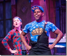 Ella Raymont and Breon Arzell star in Bros do Prose Peter Pan at Mercury Theater Chicago