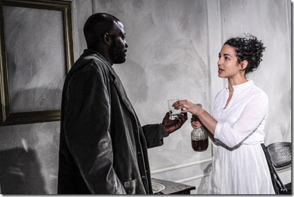 Lionel Gentle (Jacob Engstrand) and Sophie Hoyt (Regina Engstrand) star in Ghosts, Redtwist Theatre
