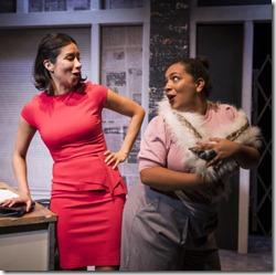 Monica Orozco and Sasha Smith star in Rightlynd by Ike Holter, Victory Gardens Theater