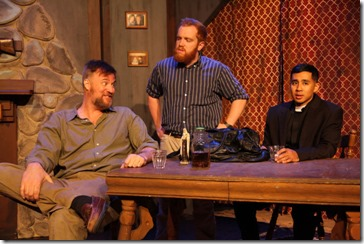 Robert Tobin, Dylan Todd and Mark Tacderas star in The Lonesome West, AstonRep Theatre