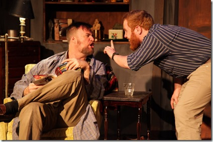 Robert Tobin and Dylan Todd star in Lonesome West, AstonRep Theatre