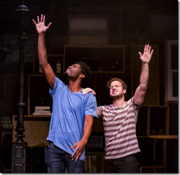 Sheldon Brown and Daniel Desmarais star as Jesse and Neil in This Bitter Earth, About Face Theatre 3