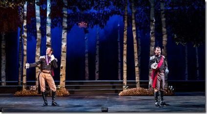 Maxwell J DeTogne (Rapunzels Prince) and Benjamin Sprunger (Cinderellas Prince) star in Into the Woods