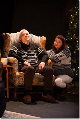 Mike Rogalski and Katy Crow star as Grandfather and Mother in The Winter Wolf, Otherworld Theatre 3