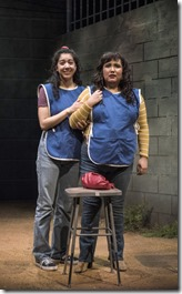 Cher Álvarez (Brenda) and Karen Rodriguez (Ivonne) star in La Ruta, Steppenwolf Theatre