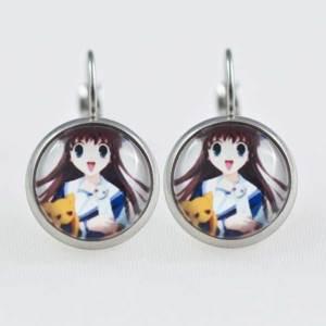Chica Manga Fruits Basket Earrings dangle Stailess steel characters