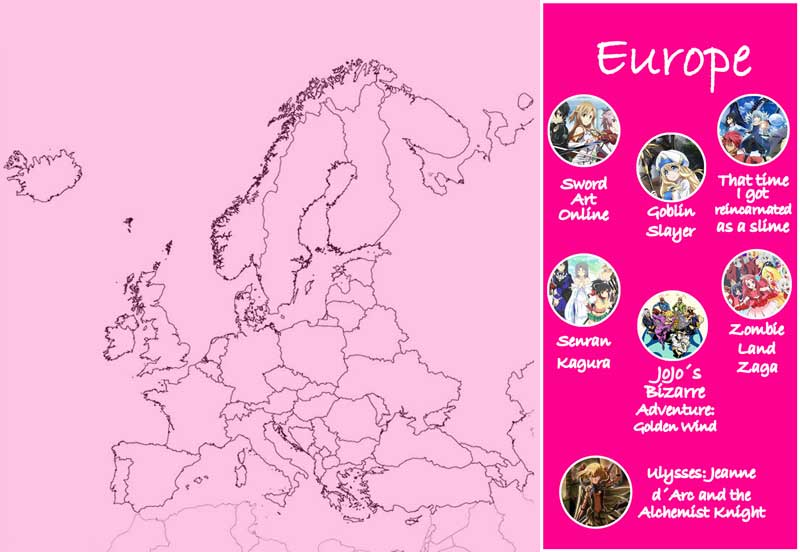 Chica Manga anime most viewed fall season by country Europe