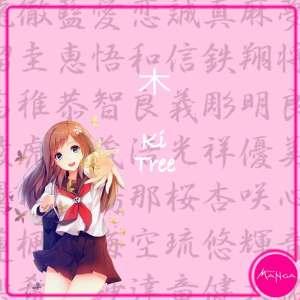 Chica Manga japanese words tree