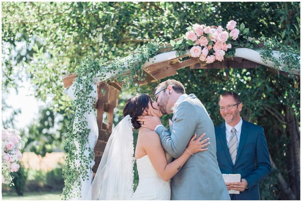 grey & pink wedding Red Deer