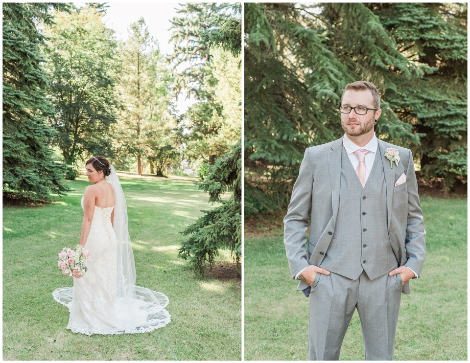grey & pink wedding Red Deer