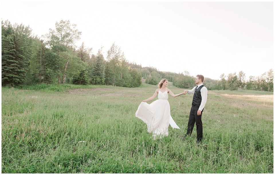 Summer Canyon Ski Wedding