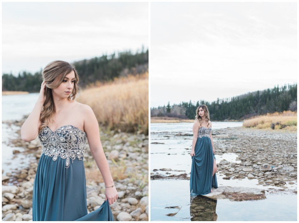Graduation Photos in the fall down by the river