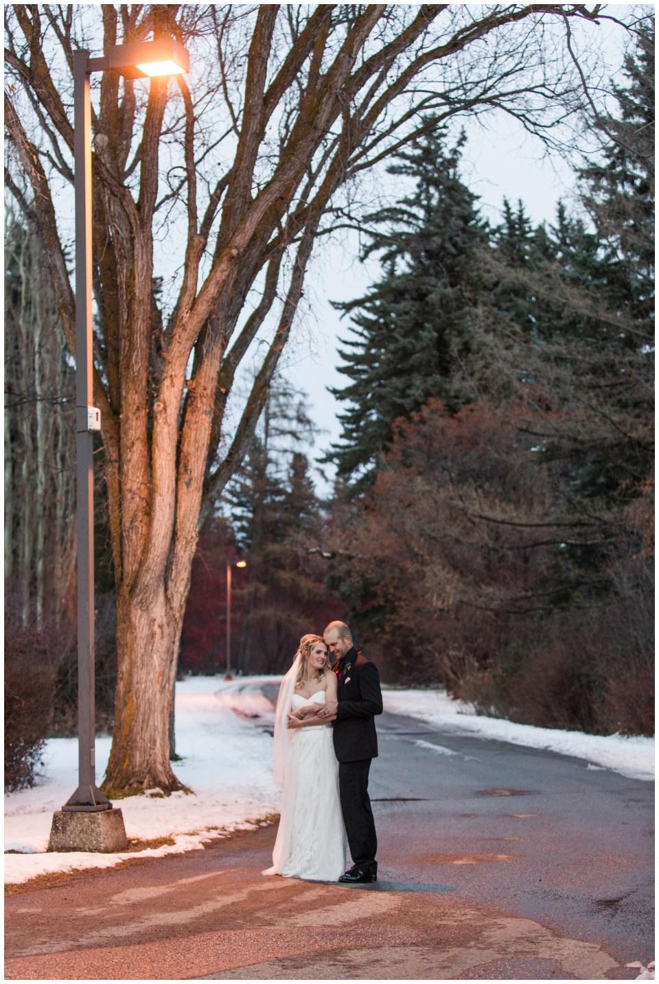 Winter Wedding at Track on 2 Lacombe Alberta