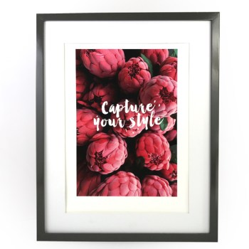 affiche A3 pink chic and pepper