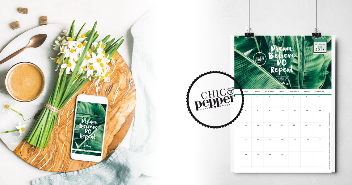 Calendrier Fond ecran mai Chic and Pepper