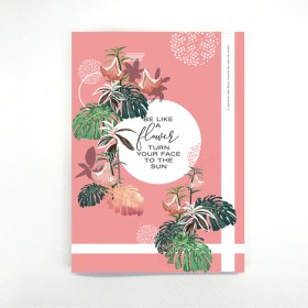 cahier flower sun chic and pepper