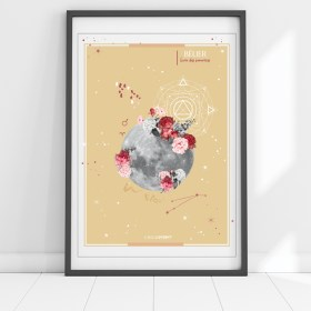 affiche Moon Belier Chic and Pepper