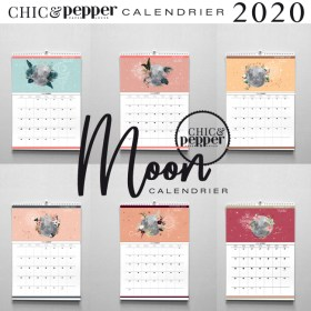 moon calendrier 2020 chic and pepper