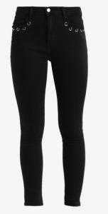 jeans noir poche oeillets even and odd zalando