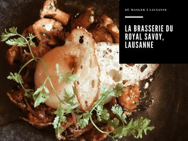 La Brasserie d'été, Royal Savoy, Lausanne