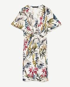robe blanches à fleurs zara