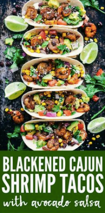 Capture blackened cajun shrimp tacos avocado salsa recipe