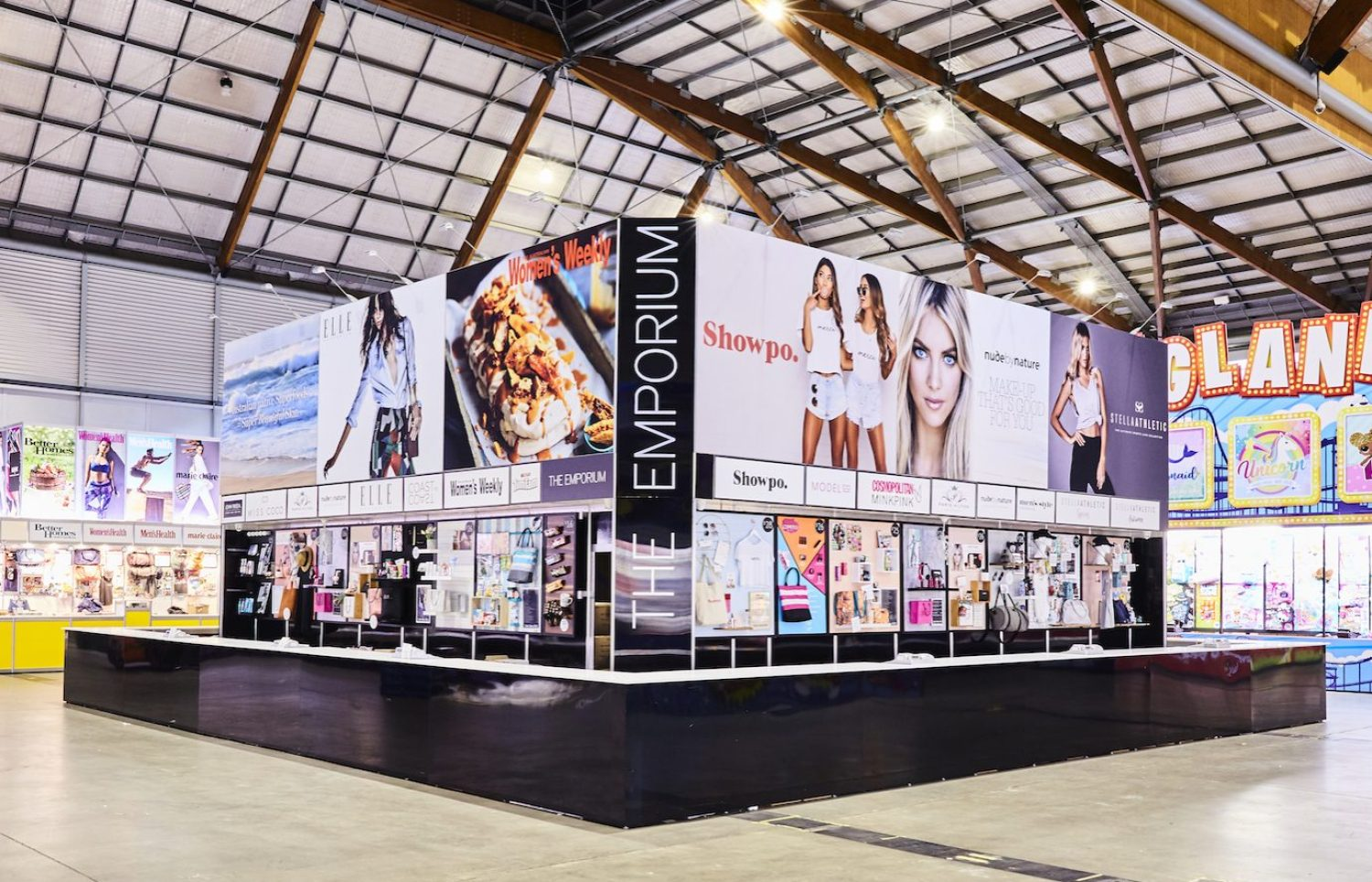 The Emporium, premium Showbag Stand at the Royal Shows retailing the best Style and Fashion, Beauty, Home and Lifestyle Showbags