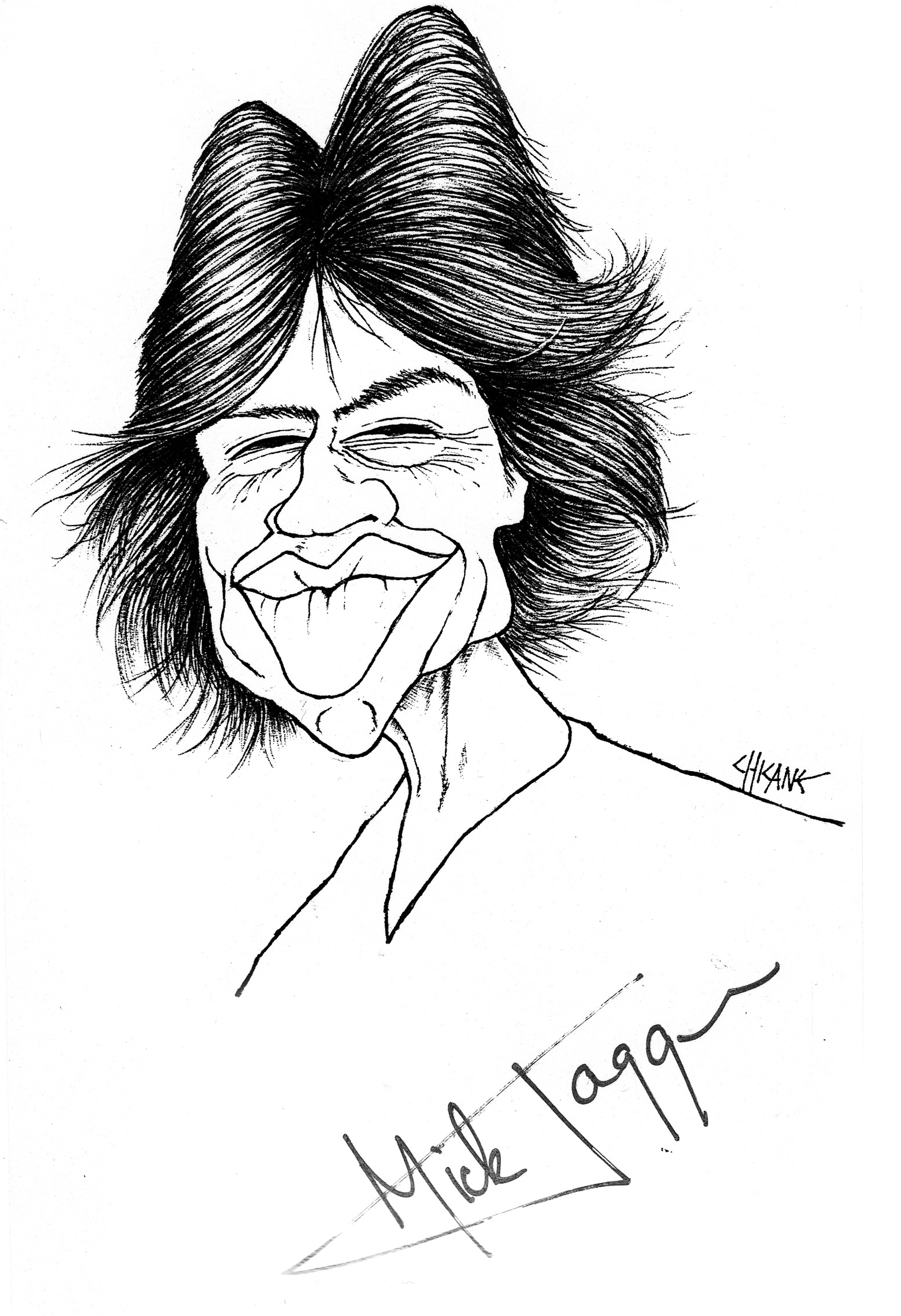 A Mick Jagger Caricature ChicanePictures