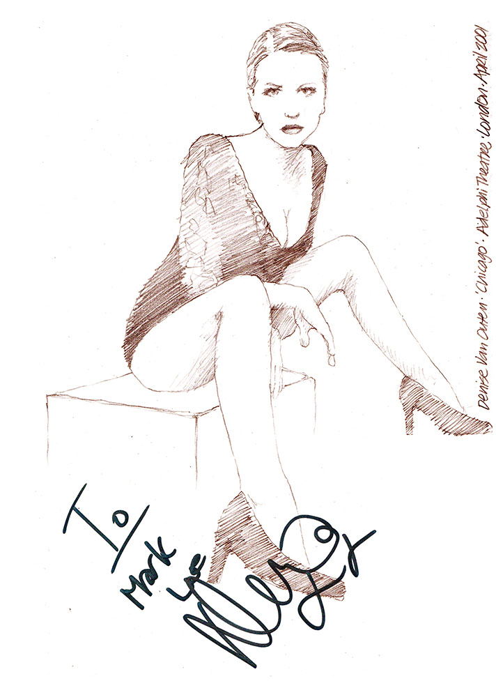 Drawing Denise Van Outen As Roxie Hart In Chicago At The