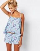Macaroon Vest & Short Pyjama Set