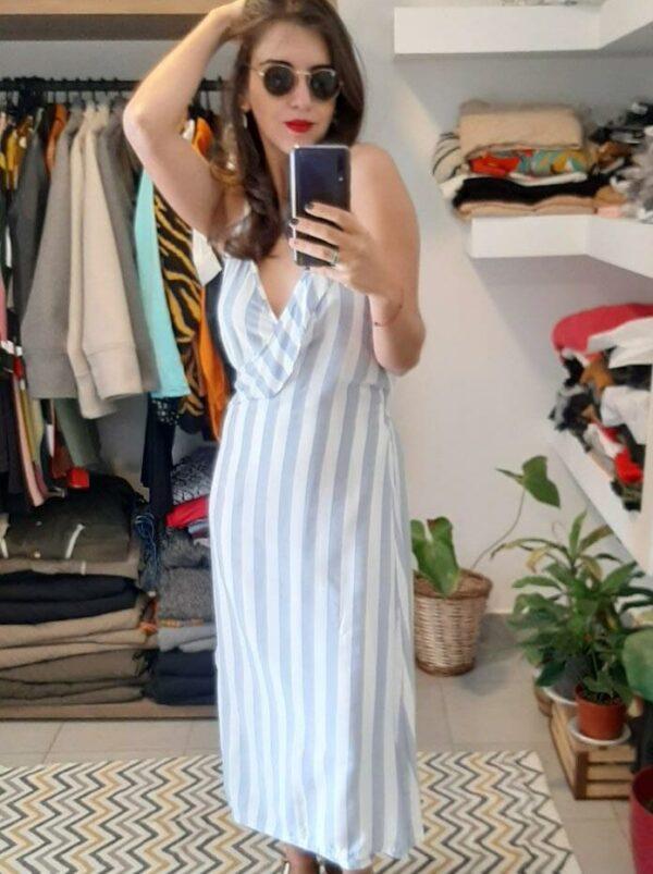 Vestido Clarisa A Rayas