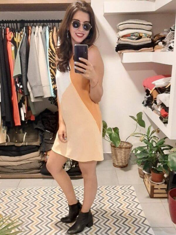 Vestido Naomi corto Tricolor
