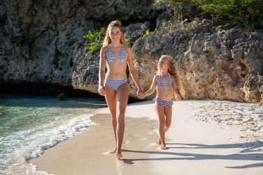 Two girls in same bikini from summer 2020 collection of Juja