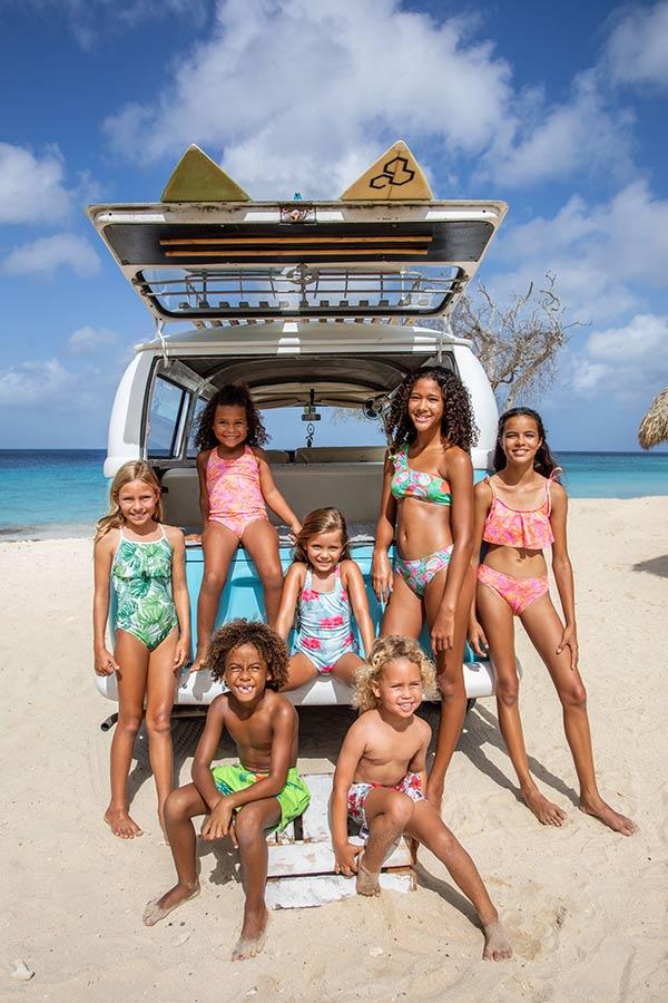 Kids Models for Beach Wear Fashion Shoot