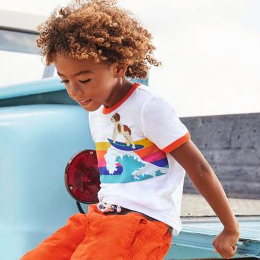 boy cool truck beach Curacao Mini Boden Summer fashion