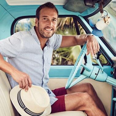TV Personality Ben Fogle on Curacao for Debenhams