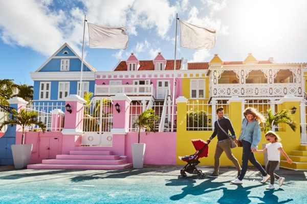 Willemstad is full with colorful historical buildings
