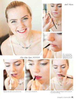 Vintage KC Magazine - Fashion Issue 2014 - MUA : Ashley Nelson, Photographer : Nicole Bissey - October 2015