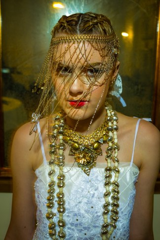 Designer : by Pangea Kali Virga | Photographer : Jeff Evrard, Hair : Geena Mericle, Manicurist : Je'Ree Humbly, MUA : Courtnie Marie Ross | Accessories : Mark Southerland, Ngan Vuong, Sydney Pener, Sarah E Xeno - March 2016