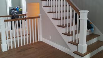 escalier termine gypse pose tirage de