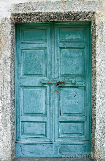 Turqouise italian doors