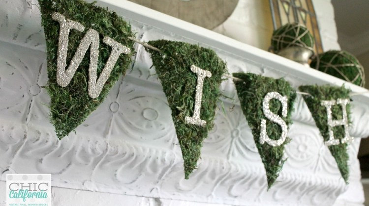 Whatnot Wednesday: How to Make a Moss and Glass Glitter Banner