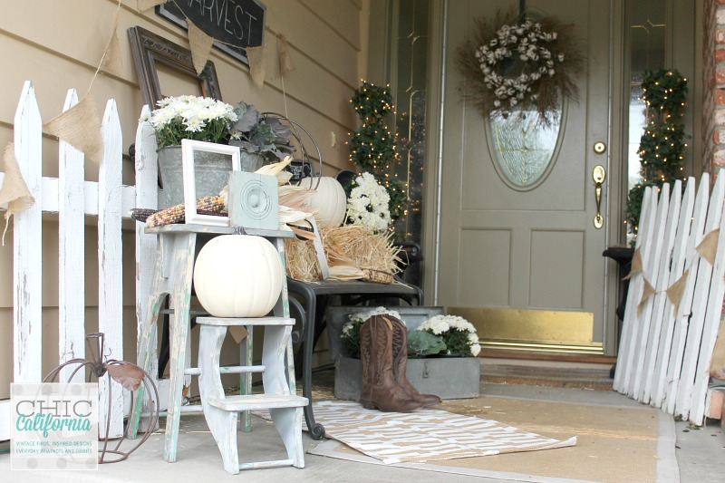 Fall Home Tour Front Door by Chic California