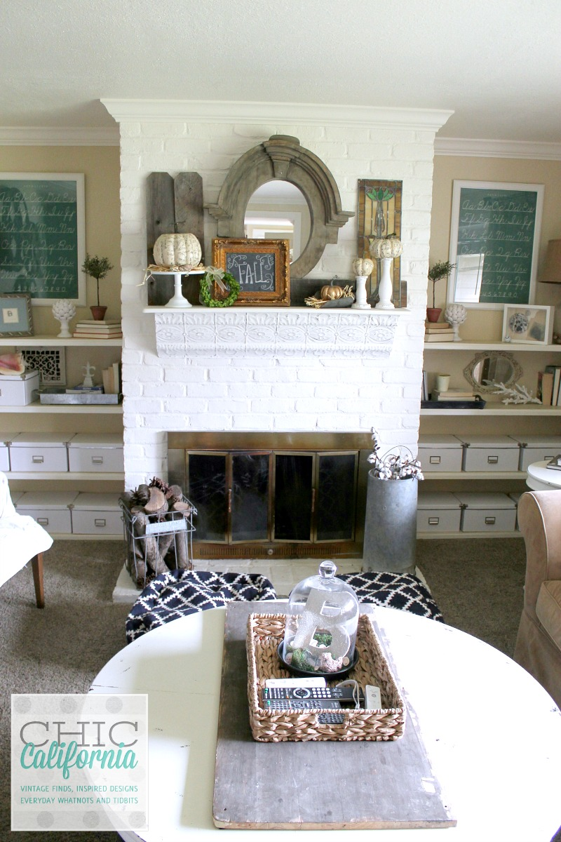 Fall Home Tour Mantel by Chic California