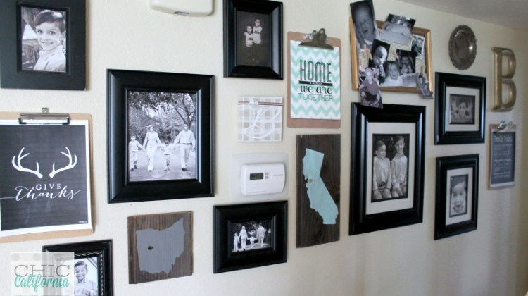 Gallery Wall Update and a Quick Trick for Hanging Picture Frames